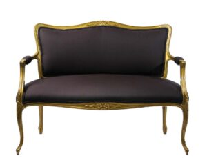Black and Gold Couch
