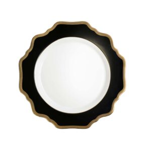 Black and White Side Plate