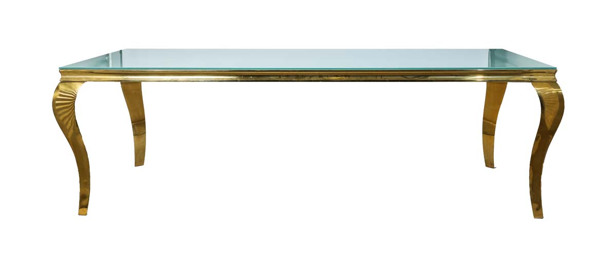 Cartier Dining Table – White and Gold