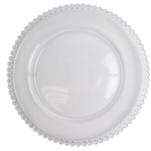 Clear Beaded Plate