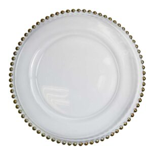 Gold Beaded Plate