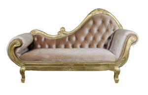 Gold Chaise Chair
