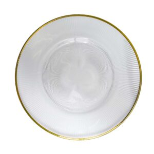 Gold Rim Plate with lines