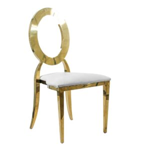 Gold Round Back Chair