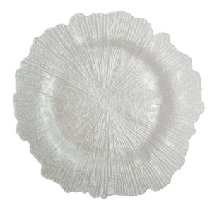 Pearly White Flower Plate
