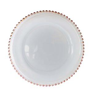 Rose Gold Beaded Plate