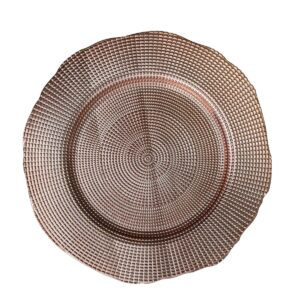 Rose Gold Hammered Plate