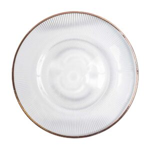 Rose Gold Rim Plate with lines