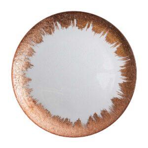 Rose Gold Splash Plate