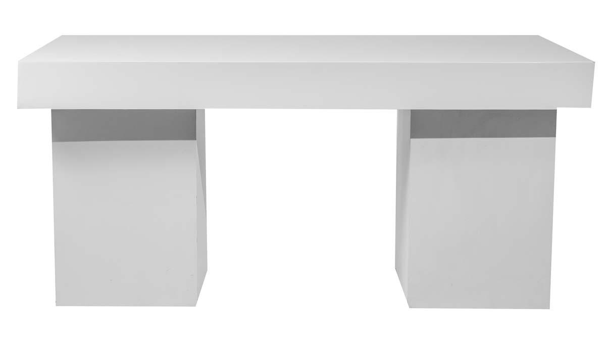 White Gloss Bar Table