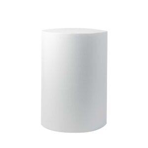 White Round Plinths