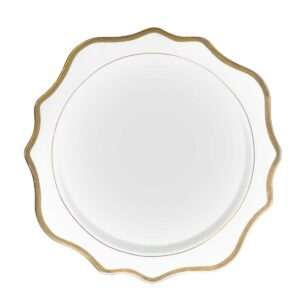 White and Gold Porcelain Plate