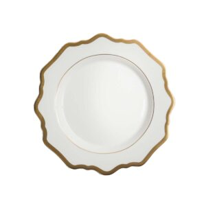 White and Gold Side Plate