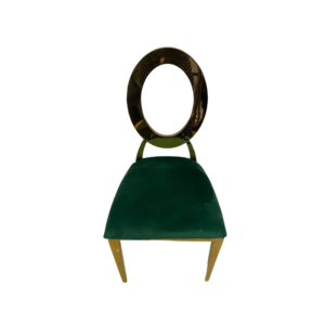 Gold Round Back Chair – Emerald Green