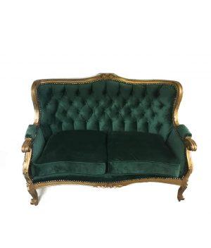Emerald Green Velvet Couch