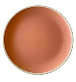 Ceramic blush and cream dinner plate