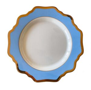 Baby Blue and White Porcelain side plate