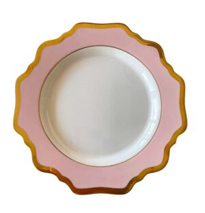 Pink and White Porcelain Side Plate