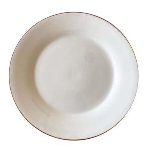 White Gold Rimmed Side Plate